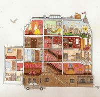 Royal Tenenbaum house illustration | home interior ...