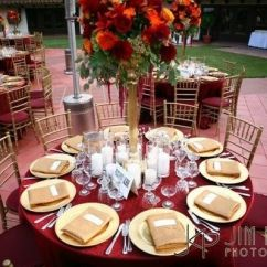 Chair Covers And Table Linens Wholesale Gaiam Ball Burgundy & Gold Wedding Setting | Married To The Game Pinterest Red Weddings ...