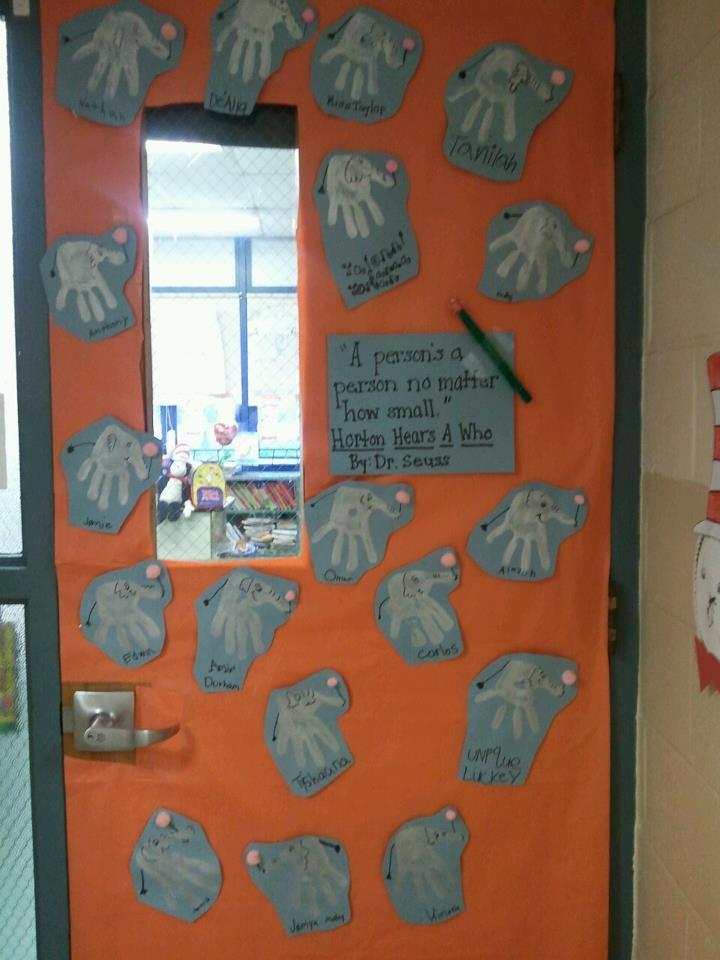 Horton Hears a Who. Dr. Seuss Door Decorating Contest
