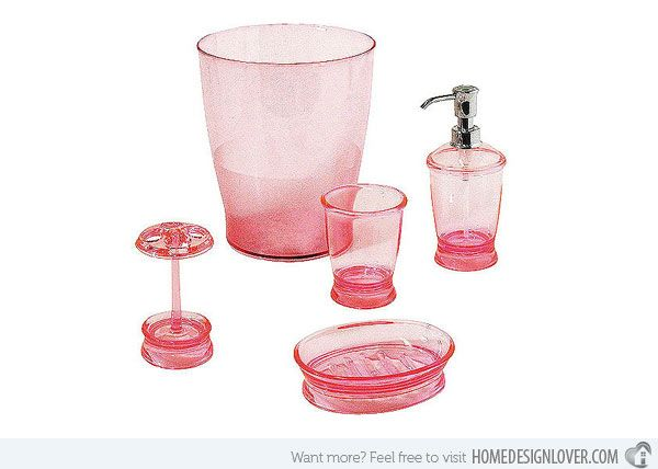 1000 ideas about Pink Bathroom Accessories on Pinterest