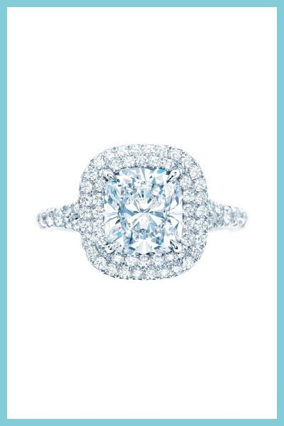 Tiffany & Co. Soleste diamond engagement ring.