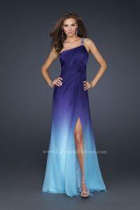 blue and purple dresses | La Femme 17172 Ombre One ...