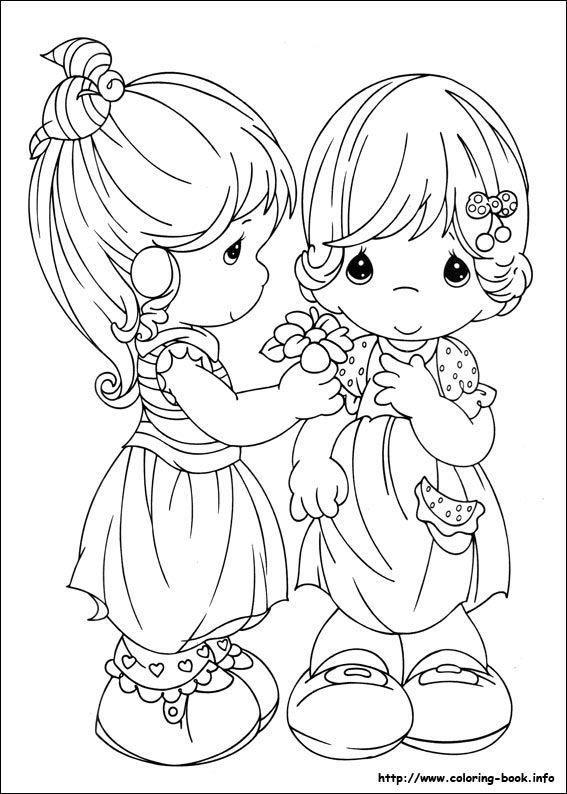 609 best images about Coloring pages: Precious Moments on