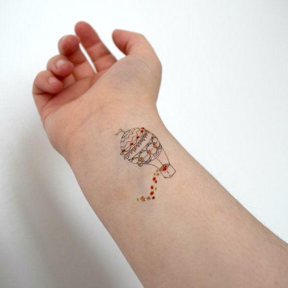 air balloon temporary tattoo