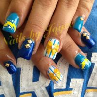 Chargers Nails! Awesome! | Hair and Beauty Tips ...