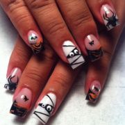 acrylic nails jeannie halloween