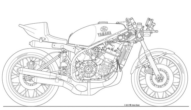 17 Best images about Drawing motorcycle ** on Pinterest