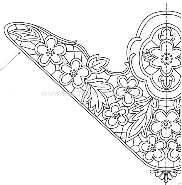 17 Best Images About Boarder Embroidery Patterns On