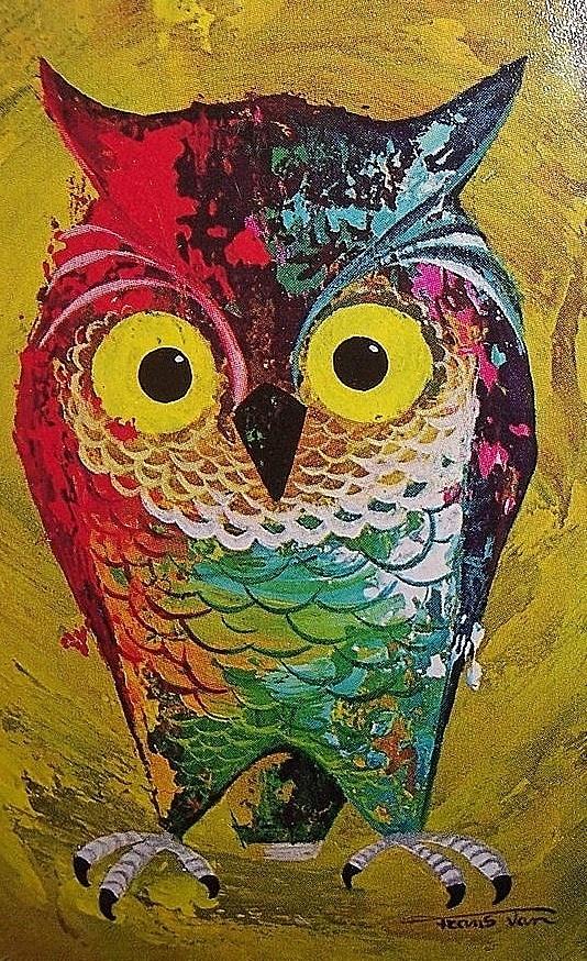 Vintage Owl Illustration Owls Pinterest Owl