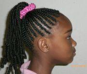 cornrow ponytail hair