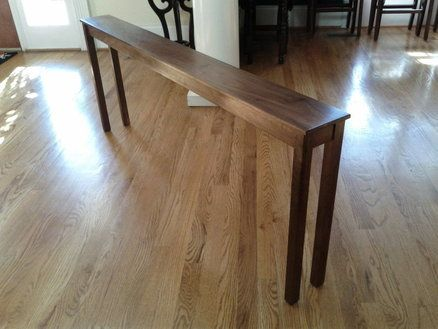 Skinny Sofa Table to put between wall and couchwould