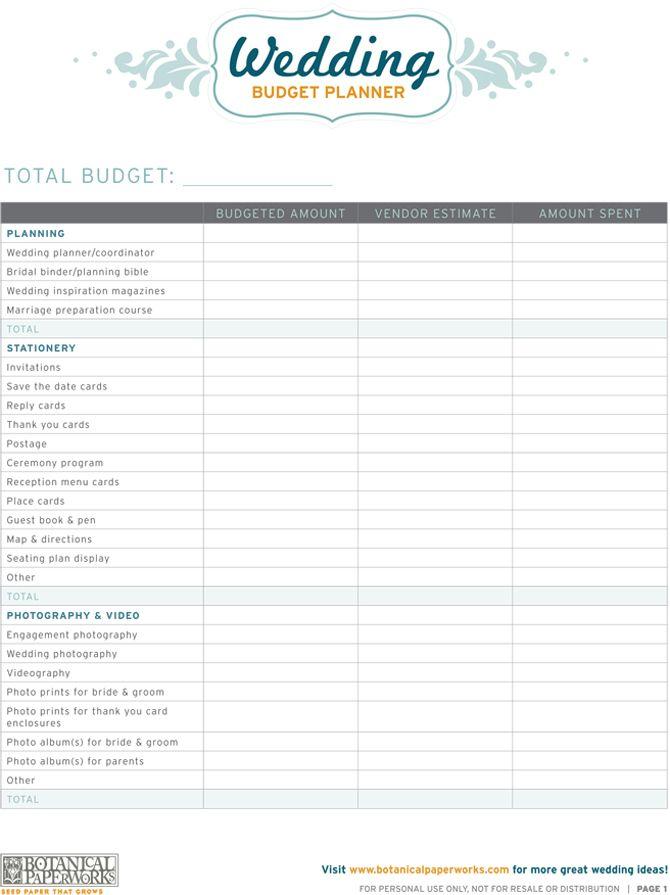 Best 20+ Wedding Budget Planner ideas on Pinterest