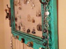 Jewelry organizer painted and distressed pic frame. Could ...