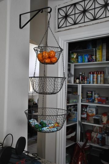 hanging kitchen basket Best 25+ Hanging fruit baskets ideas only on Pinterest | Fruit kitchen decor, Kitchen racks and
