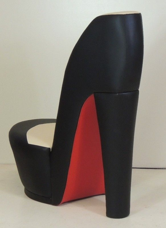 bedroom chair wayfair rolling covers for sale black & cream shoe / high heel stiletto with re...   chairs, armchairs sofas ...