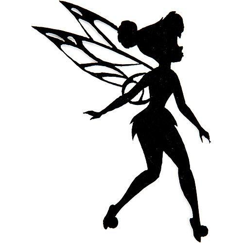Disney Fairies Iron-On Appliques-Tinkerbell Silhouette
