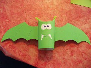 Basteln mit Kindern / Son Jas verrckten Ideen fr Grundschulkids: Fledermaus (Herbst / Halloween)