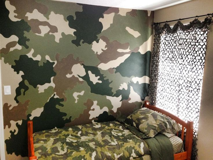 Camo Accent Wall Boys Bedroom Pinterest Accent