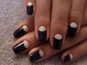 simple -moon nail design. #nails