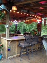 Tiki bar-foot rest, bar front. | Back yard | Pinterest ...