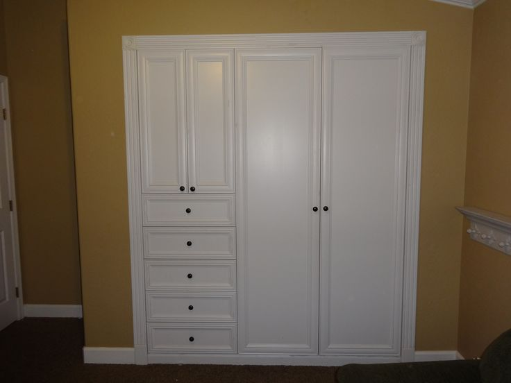 Turn your standard wall closet into a custom built in closet  dresser  For my house