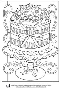 Free Printable Adult Coloring Pages - Wedding Cake ...