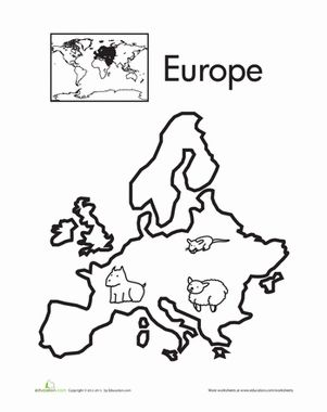 Europe, Continents and Worksheets on Pinterest