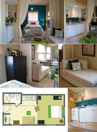 Rectangular Studio Layout & Design | Studio Apartment ...
