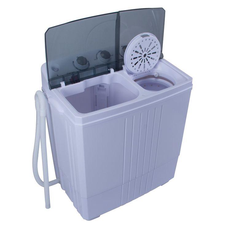 DELLA Portable Washing Machine Compact Twin Tub 11lb RV