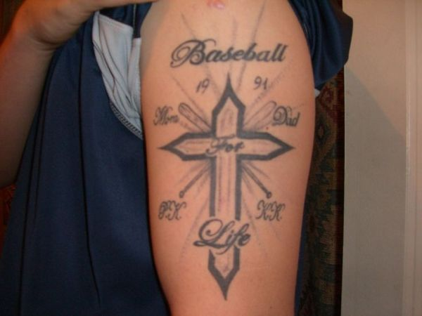 ideas softball tattoos