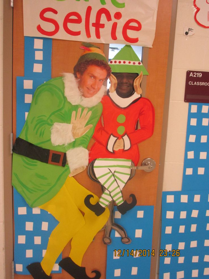 1000+ images about The Elf Christmas Door Decoration on