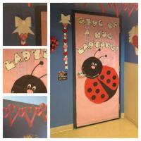 Valentine's door decoration: Ladybugs! Name banner (made ...