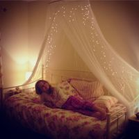 Megan's new vintage daybed with floral bedding and fairy ...