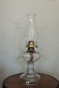 Antique Kerosene Oil Lamp, 1800's, Banner Manufacturing Co