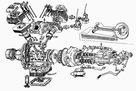 26 best images about Motorcycle Engine Exploded View