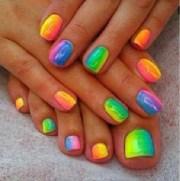 rainbow ombre nails nail art
