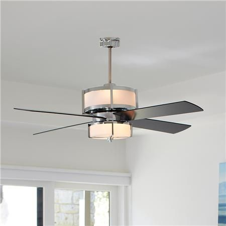 Upscale Modern Ceiling Fan – 2 Finishes – Shades of Light