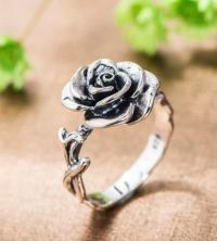 vintage thai silver rose promise ring http://www.jewelsin ...