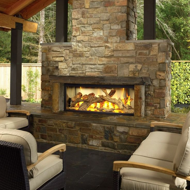 25+ best ideas about Outdoor gas fireplace on Pinterest
