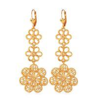 Blossom Flower Big Chandelier Earrings, elegant women's ...