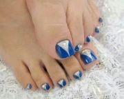 royal blue - silver glitter