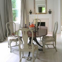 Dining Table Set 6 Chairs Taupe Uk Tone On Tone: Duncan Phyfe With Painted Queen Anne | Rooms ...