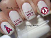 los angeles angels nail decals