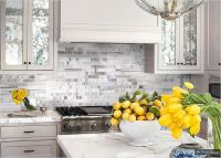 white kitchen cabinet marble countertop white gray ...