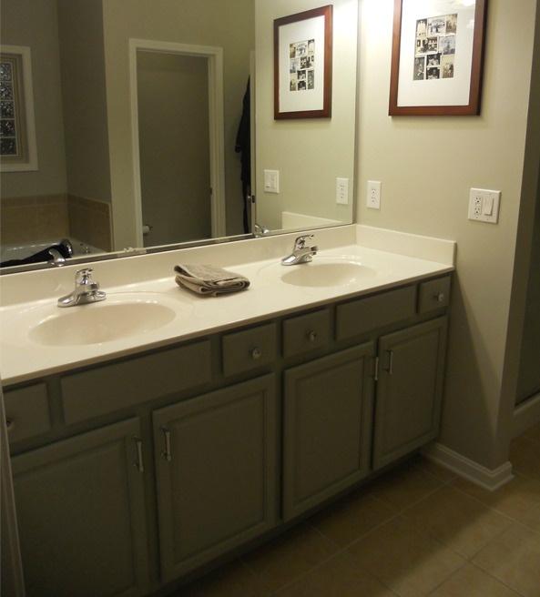 Master Bath Cabinets Fieldstone Walls Revere Pewter