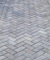 Grey Herringbone Brick Walkway | Domicile Design ...