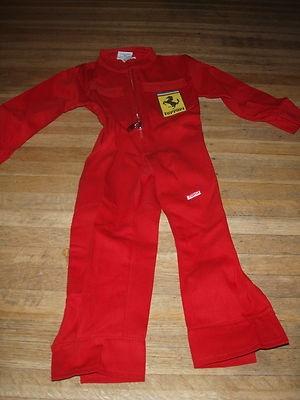 FERRARI Toma Boys XS Mechanic Outfit Jumpsuit Pants 2T 3T