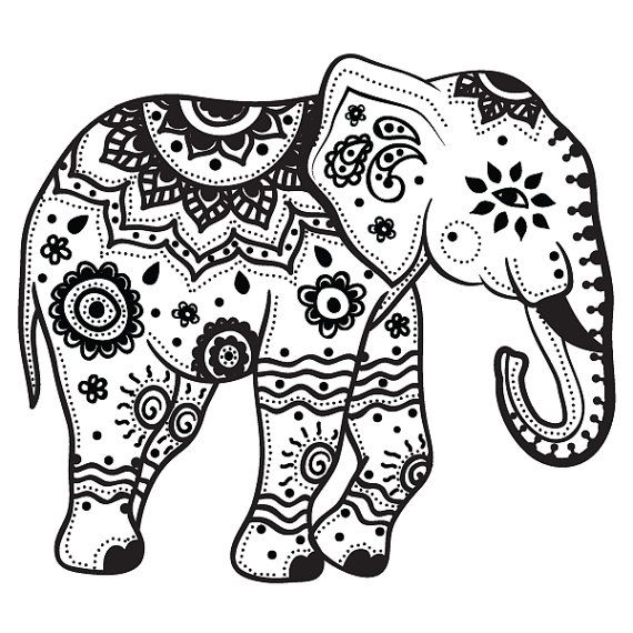Extra Large Indian elephant temporary by
