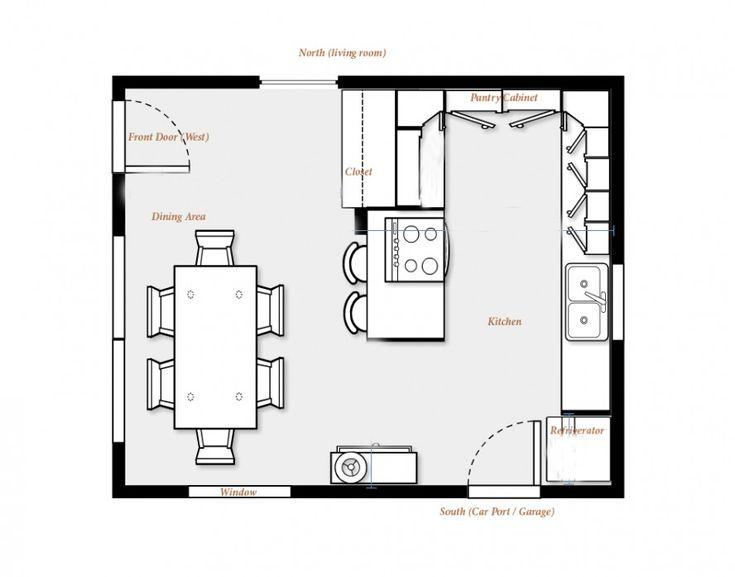 Brilliant Kitchen Floor Plans With