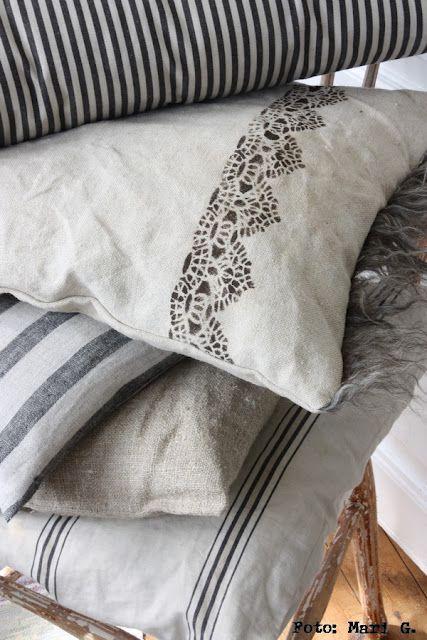 1000 ideas about Ticking Fabric on Pinterest  Farmhouse